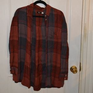 Urban Outfitters Burnt Orange Oversized Flannel, M